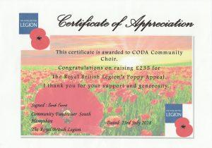 CODA Certificate MusicSmart